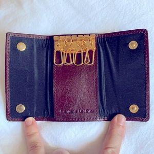 Vintage genuine leather burgundy colour keyholder